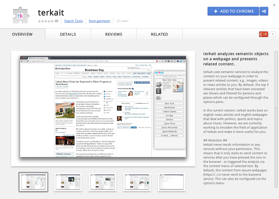 screenshot terkait in the Google Web Store