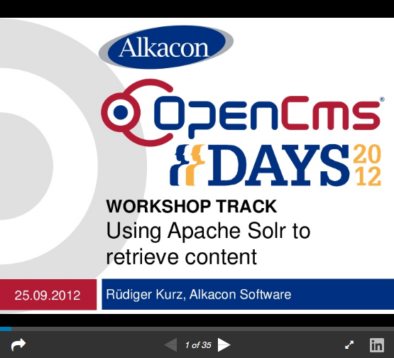 https://www.slideshare.net/AlkaconOpenCms/opencms-days-2012-opencms-85-using-apache-solr-to-retrieve-content