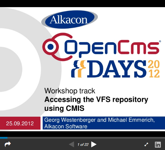 https://www.slideshare.net/AlkaconOpenCms/opencms-days-2012-opencms-85-accessing-the-vfs-repository-using-cmis